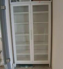 IKEA Vitrinenschrank  mit Einlegeböden, weiß, mit Glastüren - gebraucht wie neu
