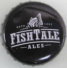 FISH TALE ALES black Beer CROWN, Bottle CAP, Fish Brewing Co, Olympia WASHINGTON