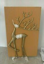 Pottery Barn Merry Reindeer brass gold object Christmas Decor MEDIUM