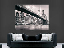 PONTE di Brooklyn New York City USA WALL POSTER Arte Foto Stampa Grande Enorme