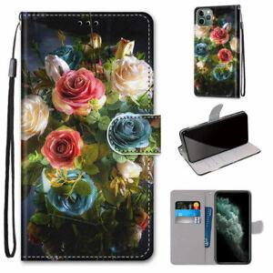 Multi Rose Flower Flip Wallet Phone Case For iPhone 11 Pro Max XR XS X 6 7 8 SE