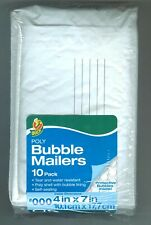 New listing Duck Brand #000 Poly Bubble Mailer 4x7 Envelopes White Cushioned Padded 10-Pack