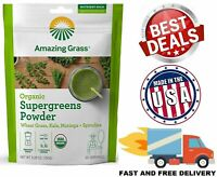 ORGANIC SUPER GREENS POWDER Smoothie Booster Spirulina Superfood 30 Servings NEW