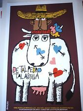 LIKE FATHER LIKE DAUGHTER Cuba Silkscreen Poster for Cuban Cattle Rancher Movie
