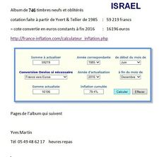 timbres Israël collection de 746 timbres