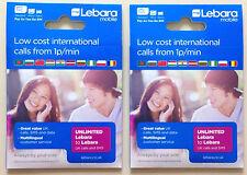 Lebara super fast 3G/4G PAY AS YOU GO trio SIM CARD (buy 1 get 1 free)