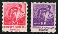 Romania 1952 MNH Mi 1402-1403 Sc 902-903 Day of the Miner **