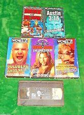 6 WRESTLING VIDEOS vhs WCW WWF RARE OOP! GOLDBERG,NASH,DDP,STONE COLD,HHH wwe