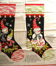 "Craft Panel ""S'Noel Stockings"" By Henry Glass. (2) 20"" Christmas Stockings"