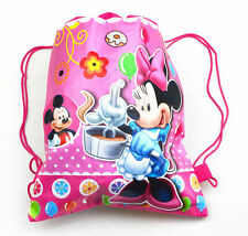 New Mickey & Minnie Mouse Drawstring Backpack School Swim Library Bag 35 x 27cm