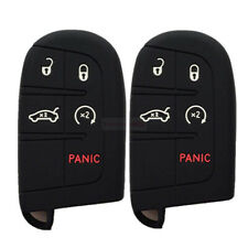 Smart Remote Key Silicone Skin Case Cover 5 Buttons Fit For Chrysler Dodge Jeep