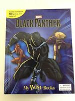 MARVELS BLACK PANTHER BUSY BOOK - 10 FIGURES AND A PLAYMAT BRAND NEW