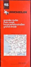 MICHELIN 1983 COLOURED MAPS BOOKLET of FRANCE, MAIN ROADS No 915 1:1000 000
