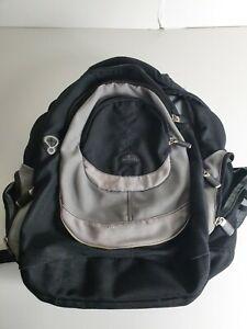 2005 Samsonite Backpack Black/Grey Fair Condition