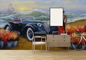 3D PVC Self-adhesive Wallpaper Elegant Lady Auto Wall Living Room TV Background