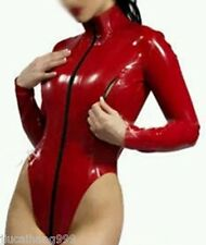 100% Latex Rubber Gummi 0.48mm Bodysuit Leotard Coat Catsuit Suit Zip