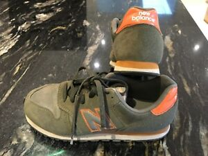 Boys New Balance olive green trainers size 2