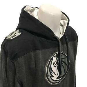 NBA Men's New Dallas Mavericks Hoody Sweatshirt Small-2X Grey/Black Basketball