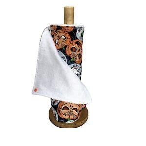 Reusable kitchen roll, unpaper towels, Pumpkin eco friendly kitchen cloths