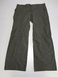 W704 MENS FCUK JEANS KHAKI GREEN STRAIGHT LEG ZIPPED TROUSERS UK L W34 L31