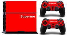 Super Superme Red DECAL SKIN PROTECTIVE STICKER for SONY PS4 CONSOLE CONTROLLER