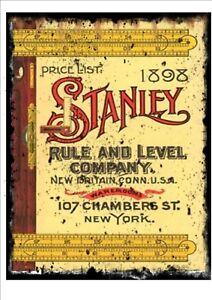 Stanley Tools Advertising Reproduction Sign Vintage Workshop Advertising