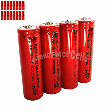 16 pcs AA LR06 3000mAh 1.2V NI-MH rechargeable battery CELL/RC MP3 2A SILVER RED