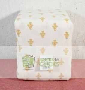 Threshold- Printed Flannel Sheet Set, Queen, Gold Flower