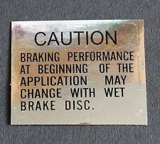 Suzuki GT750/550/500/380/250/185 GS750/550, Fork Leg Brake Caution Decal/Sticker