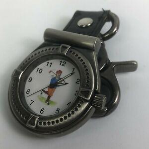 Golf Unisex Quartz Stainless Steel Pocket Watch
