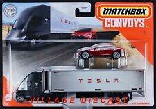 2020 Matchbox Convoys #2 Tesla Semi & Box Trailer  Tesla Model S / NEW ART /MOC