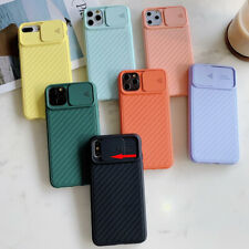 Para IPHONE 11 Pro Max XS XR X 8 7 6Plus Cámara Deslizar Protectora Suave Funda