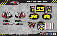 Full Custom Graphic Kit Honda QR 50  All years GRAFFITI style decals/stickers