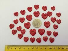 Red Heart Shaped 2 Hole Flat Novelty Buttons by Dress It Up 5624