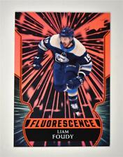 2020-21 UD Series 2 Flouresence Red #F-2 Liam Foudy RC- Columbus Blue Jackets