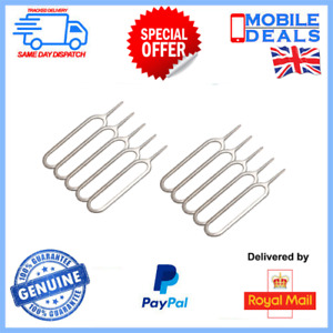 10x Sim Card Tray Eject Pin Opener Tool for Smart Phone Tablet iPhone Samsung