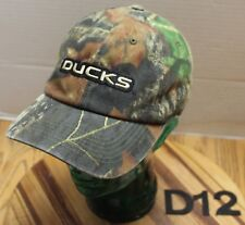 UNIVERSITY OF OREGON UO DUCKS MOSSY OAK CAMO HAT ADJUSTABLE VGC D12