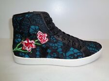 feb88134b4c Steve Madden Size 10 M ASHBY Floral Black Fashion Hi Top Sneakers New Mens  Shoes