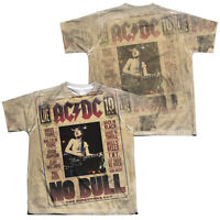 ACDC NO BULL Kids Licensed Graphic Band Tee Shirt SM-XL Boys Girls Sizes 6-20