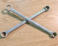 """Williams Box End Wrenches Set of 2 Galvanized 12 Point 1-1/16"""" x 1-1/8"""" US Made"""