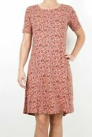 NEW Fat Face Pretty Floral Pink Simone Brushstroke Dress RRP £46 NOW £22.50