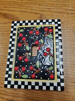 Mary Engelbreit Ceramic Light Switch Plate Cover Cherries