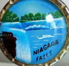 Gorgeous Niagara falls pictue under glass charm pendant    tr