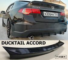 Ducktail Rear Wing Trunk Spoiler Lip Acura TSX & Honda Accord CU2 08-13 Ver.1