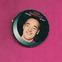 RARE 1968-69 PUCK PUSH OUTS RED WINGS FRANK MAHOVLICH  CARD  (INV# C5070)
