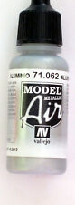 Vallejo Model Air Paint: 17ml  71062 Aluminium