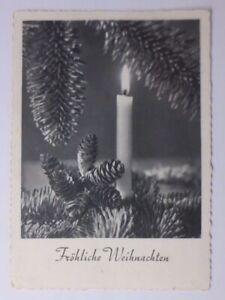 Weihnachten, Kerze, Tannenzweig,  1958 ♥