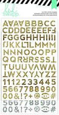 Heidi Swapp Hello Beautiful Glitter Alphabet Stickers 212 Pcs Gold Silver 4-Pack