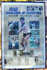 AT&T Challenge of Champions SIGNED Tennis Poster, McEnroe, Conners, Arias, MORE!