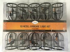 Metal Birdcage Lantern Lights Halloween Decoration Spooky Home NEW FREE SHIP